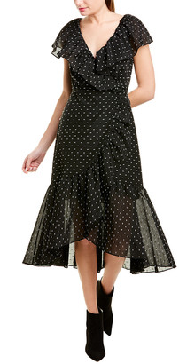 Rebecca Taylor Dotted Wrap Dress