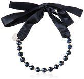 MonnaLisa Satin Bow Necklace W/ Crystals