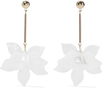 Iris & Ink Gold-plated Marbled Acrylic Earrings