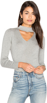Milly Cut Away Collar Sweater