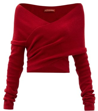 Altuzarra Virginia Off-the-shoulder Wool-blend Sweater - Red