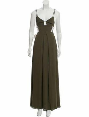Fame & Partners Sleeveless Maxi Dress Olive
