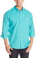 Dockers Big & Tall Solid Woven Button-Front Shirt
