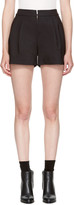 3.1 Phillip Lim Black Exposed Zip Shorts