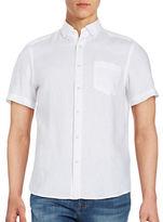 Black Brown 1826 Linen Pocketed Sportshirt