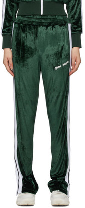 Palm Angels Green Chenille Lounge Pants