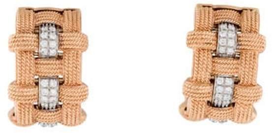 Roberto Coin 18K Diamond Magnifica Half Hoop Earrings rose 18K Diamond Magnifica Half Hoop Earrings