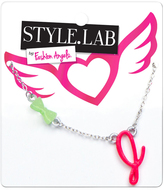 Fashion Angels Pink & Silvertone 'J' Initial Pendant Necklace