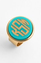 Moon and Lola Women's 'Vineyard' Personalized Monogram Ring