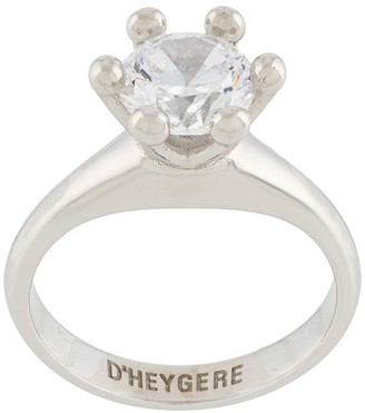 D'heygere Crystal-Embellished Metal Ring