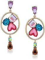 colored stone chandelier earring - ShopStyle