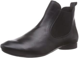 Think! Guad Chelsea Ladies Short Long Boots Black Size: 3.5-4