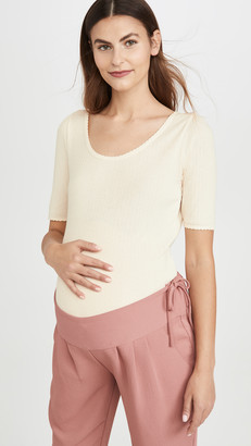 Hatch Pointelle Rib Tee