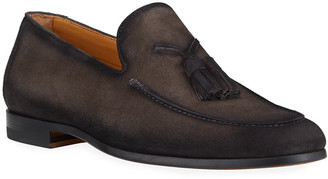 Magnanni Men's Super Flex Tassel Leather Loafers