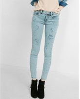 Express mid rise distressed jean legging