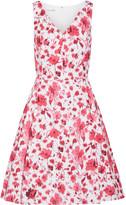 Oscar de la Renta Floral-print Stretch-cotton Dress - Pink