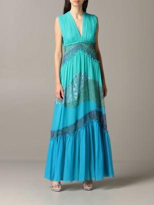 Alberta Ferretti Dress Long Dress In Chiffon And Lace