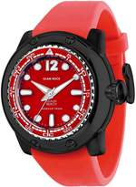 Glam Rock Men's Miami Beach 50mm Silicone Band Quartz Analog Watch Gr20027