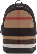Burberry Tillier check canvas backpack