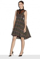 Milly Exclusive Chevron Brocade Roxanne Dress