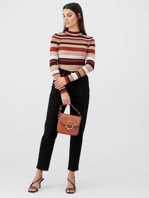Very Stripe Skinny Rib Jumper - Multi