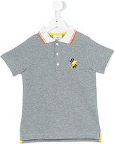 Fendi contrast collar polo shirt - kids - Cotton - 2 yrs