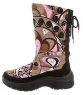 Emilio Pucci Printed Ankle Boots