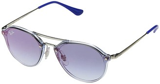 Ray-Ban Junior RJ9067SN (Youth) (Transparent Light Blue) Fashion Sunglasses