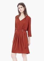 Mango Outlet Pleated Panel Dress