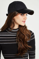 BCBGeneration Heathered Baseball Cap - Black