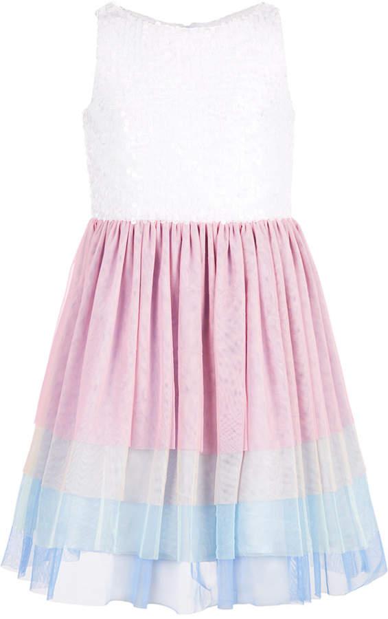 d86e587751 Girls Pink Sequin Dress - ShopStyle