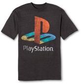 Sony Men's Big & Tall Playstation Logo T-Shirt Charcoal Grey