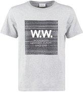 Wood Wood Print Tshirt Grey Melange