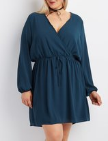 Charlotte Russe Plus Size Crochet-Trim Surplice Dress