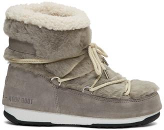 Yves Salomon Grey Moon Boot Edition Shearling Boots