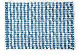 Mackenzie Childs MacKenzie-Childs Oxford Blue Houndstooth Scatter Rug