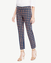 Ann Taylor The Crop Pant In Geo Block - Kate Fit