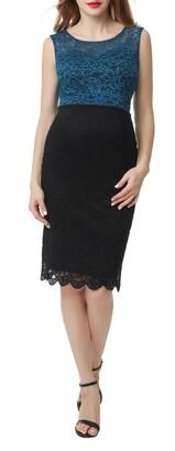 Kimi and Kai Lace Maternity Sheath Dress