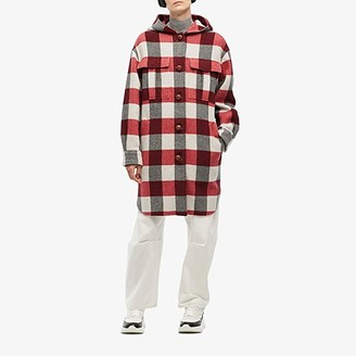 Rag & Bone Beck Coat (Tan/Black Check) Women's Clothing