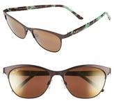 Maui Jim Women's 'Popoki' 54Mm Polarized Sunglasses - Satin Black/ Neutral Grey