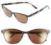 Maui Jim Women's Popoki 54Mm Polarizedplus2 Sunglasses - Satin Black/ Neutral Grey