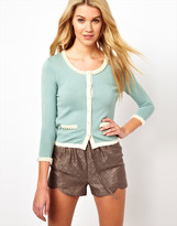 Darling Cardigan with Pearl Detailing