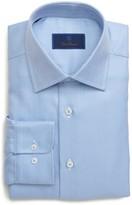 David Donahue Chevron Regular Fit Dress Shirt