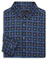 Valentino Patterned Cotton Classic-Fit Dress Shirt