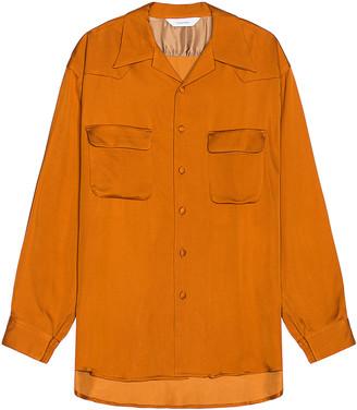 SASQUATCHfabrix. Big Open Collar Shirt in Orange | FWRD