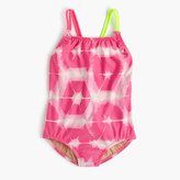 J.Crew Girls' one-piece swimsuit in tie-dye