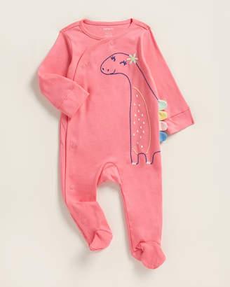 Carter's Newborn Girls) Pretty Dino Footie