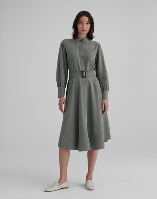 Club Monaco Curved Hem Shirtdress