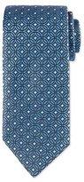 Eton Diamond Medallion-Print Tie, Blue