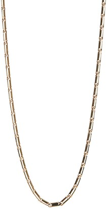 Rebecca Minkoff Gold Plated Brass Textured Bar Chain Necklace